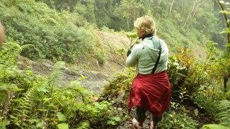 tomando foto en el parque Volcán Baru